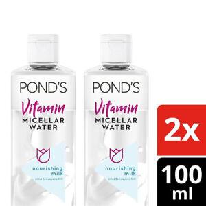 2x [PONDS] Vitamin Micellar Water Makeup Remover Milk Nourishing Skin 100ml
