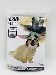 Star Wars Disney Mandalorian Baby Yoda Dog Cat Pet Halloween Costume Size Small