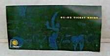 1991 92 Indiana Pacers Ticket Guide Brochure Reggie Miller pic Game Schedule