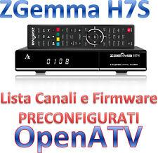 Decoder Zgemma H7s 4k H7 Multistream Dvb-s2x Dvb-t2 Openatv Preconfigurata Linux