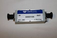 Teledyne Cougar SMA 10 MHz to 3000 MHz Amplifier 30 dB Gain 21 dBm out A4C3120