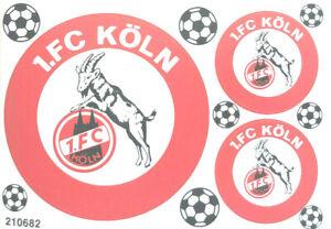 1. FC Köln Aufkleber Sticker Set - 3 Logos Bundesliga Fussball #1251