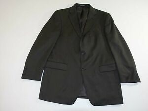 Perry Ellis Men's Suit Jacket Size 42 Regular Dark Taupe 42R Wool Blazer Coat