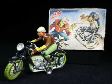 VINTAGE ARNOLD MAC 700 DARE DEVIL MOTORCYCLE TIN LITHOGRAPH WINDUP BOXED GERMANY