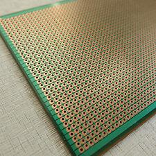 2x PCB 10x24.5cm joint Streifenraster Veroboard Lochraster platine leiterplatte