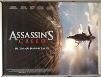 Cinema Poster: ASSASSIN'S CREED 2017 (Advance Quad) Michael Fassbender