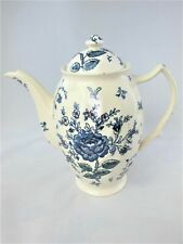 Johnson Brothers Rose Chintz Blue COFFEE POT 6 Cup In box Vintage Rare
