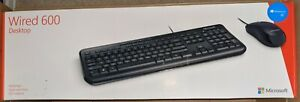 Microsoft Wired 600 Desktop - Wired Keyboard and Mouse