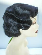 Finger Wave Fingerwave Wig Rose.  Black .Fab Quality! Downton Abbey! Snow White