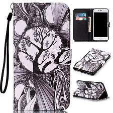 For Apple iPod Touch 5 6 6th Gen PU Leather Wallet Skin Cover Case w/Card Holder