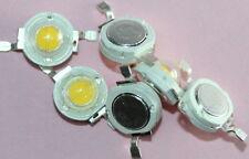 10x 1W LED Chip, High Power kaltweiss, COB, incl. Aluminium Montageplatinen