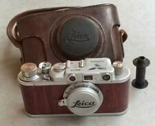 Leica II D Luftwaffe Z copy chrome-wood in leather case (FED-Zorki copy)