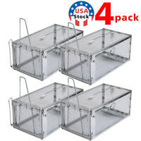 4x Rat Trap Cage Small Live Animal Pest Rodent Mouse Control Catch Hunting Trap