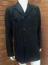 NEW & Lingwood BLACK IMPERMEABILE DOPPIO PETTO GIACCA TAGLIA M al dettaglio £ 195