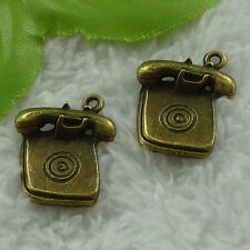 free ship 48 pieces bronze plated telephone charms 24x20mm #3331