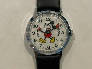 Vintage Bradley Mickey Mouse Fat Boy Swiss Watch 47 - NM - Runs
