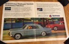 1964 Studebaker Daytona Avanti 1963 Print Advertisement Vintage Magazine Ad