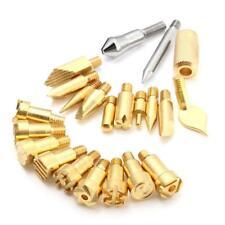 Wood Burning Tool Kit 22PCS Craft Set Soldering Pyrography Art Pen Brass Tips