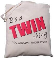 È una cosa Twin-lei non vorrebbe capire-Cotone Naturale Borsa a tracolla