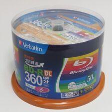 50 Verbatim Blank Blu-ray Discs 50GB BD-R DL 4x 6x bluray JAPAN