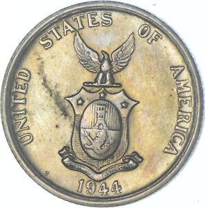 Better Date - 1944 Philippines 50 Centavos - SILVER *627