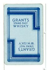"""Single Vintage Playing Card, """"Grant's"""" Stand Fast Whisky"""