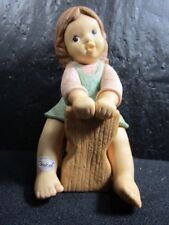 Goebel Nina & Marco - Nina Sitting On Limpke - Figurine, Excellent Condition