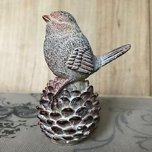 Robin on a Pine Cone Decorative Bird Ornament Woodland Decor Easter Gift