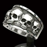 Men's Punk Style Skull Rings Fashion Jewelry Ring Size 6-13 G6L0