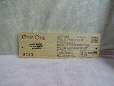 2013 OPUS ONE ROBERT MONDAVI WOOD WINE PANEL END