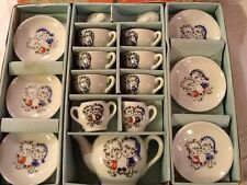 Childs Toy Tea Set Japan  #3513 Little Girls 17pc in box complete Antique