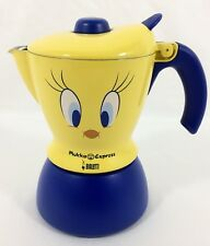 Bialetti Mukka Express TWEETY BIRD Stove Top 2 Cup Cappuccino Maker Yellow Blue