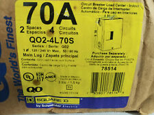 Square D Circuit Breaker Load Center Q02-4L70S G02 Free Shipping - Factory New