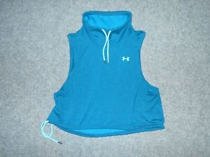 UNDER ARMOUR WOMENS LARGE COWL NECK SLEEVELESS PULLOVER SHIRT
