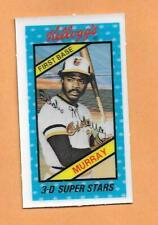 EDDIE MURRAY 1980 KELLOGGS 3-D SUPERSTARS CARD # 24