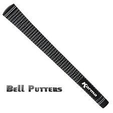 "Karma Velvet Midsize Black/White Golf Grip-Men's-Select Your Quantity +1/32"""