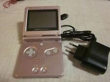 Console Game Boy Advance SP rosa con alimentatore -funzionante-