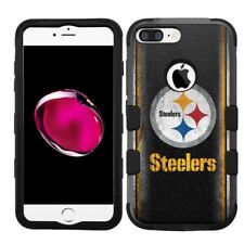 for iPhone 8 Plus Rugged Rubber+Hard Hybrid Case Pittsburgh Steelers #V