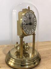 Vintage antiguo reloj con cúpula de vidrio/Mantel-Carro/Alemania Movimiento Y Estuche