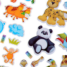 10pcs Cartoon Animals Zoo 3D Stickers Childrens Girls Boys PVC Stickers Kids Toy