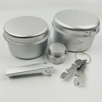 Ultralight Aluminum Camping Cookware For Outdoor Backpacking Hiking