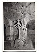 Israël - cpa - BETH SHE'ARIM - Chandelier à 7 branches  (C1924)