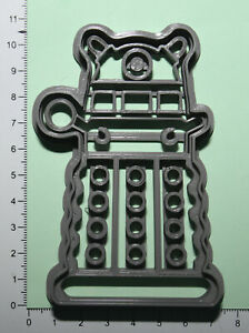 Dalek Doctor who Cookie or fondant  Cutter 3d printed