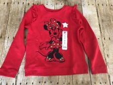 Disney Jumping Beans Girls 6X Red Minnie Mouse Fleece Pullover NEW