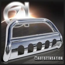 "Ford 97-04 F150 F250 Expedition 4WD 3"" Chrome S/S Bull Bar Push Guard+Skid Plate"