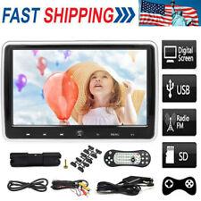 "10.1"" LCD Screen Stereo Car Headrest TV Monitor DVD/USB/SD Player IR/FM/Speaker"