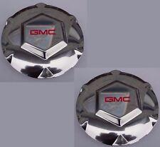 """2x GMC Envoy XL, XUV 17"""" Aluminum Wheel Center Caps, 2002-2007, 9593396 9595152"""