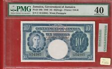 Jamaica, 10 Shillings, P 38b, 1940, PMG 40 Extremely Fine