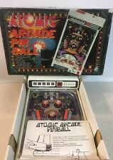 VINTAGE TOMY ATOMIC ARCADE PINBALL MACHINE - 1979 Tabletop In Box For Parts