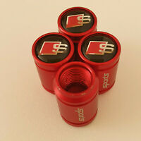 AUDI S LINE METAL SPORTS Valve Dust caps all Cars 7 COLORS UK DISPATCH RS3 RS4